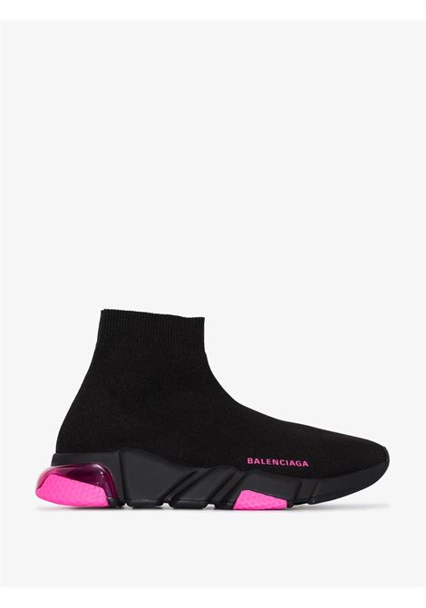 black and pink Speed hi-top sneakers featuring pink details all over BALENCIAGA |  | 607543-W05GJ1051