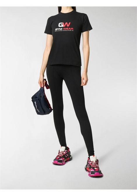 t-shirt Balenciaga Gym Wear in cotone nero BALENCIAGA | T-shirt | 612964-TIVD51000