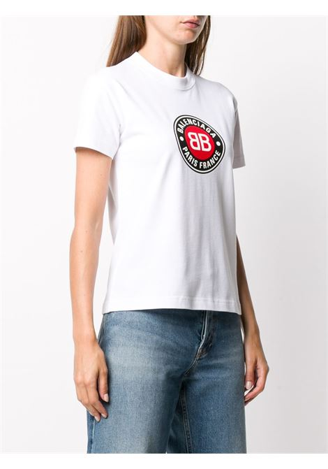 White red and black cotton Club Logo t-shirt  BALENCIAGA |  | 612964-TJVD69000