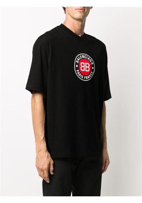 t-shirt in cotone nero dalla vestibilità comoda BALENCIAGA | T-shirt | 612966-TJVD61000