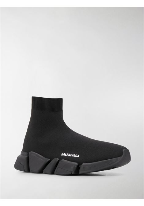 Black Speed 2.0 socks sneakers  with black rubber sole BALENCIAGA |  | 617239-W17011013