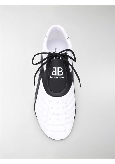 White and black Zen lace-up sneakers featuring contrasting panel detail BALENCIAGA |  | 617540-W2CG19010