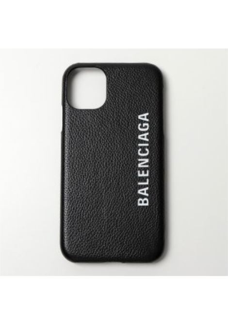 Cover in pelle di vitello nera compatibile con iPhone 11  BALENCIAGA |  | 618389-1IZD01065