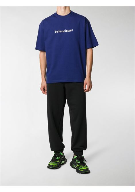 black cotton Gym Wear tapered track pants featuring Balenciaga logo print to the front BALENCIAGA |  | 626310-TIVD41000