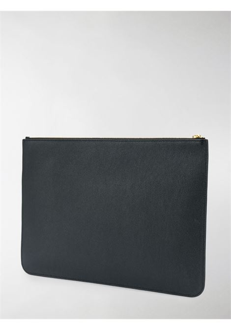 Black calfskin leather  Balenciaga logo-print clutch bag BALENCIAGA |  | 630626-1IZKM1090