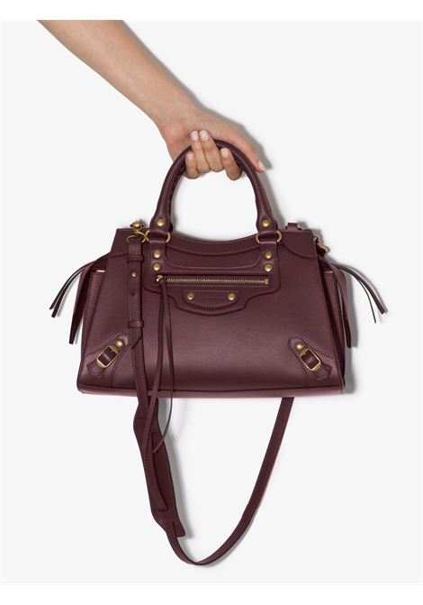 Burgundy medium City leather handbag BALENCIAGA |  | 638521-11R116117