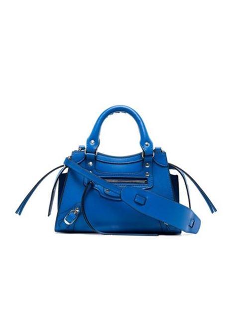 Mini borsa Neo Classic City in pelle blu con logo Balenciaga BALENCIAGA | Borse a tracolla | 638524-11R1Y4227