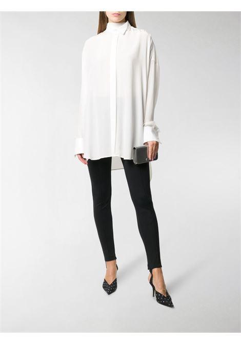 Pink cotton tuxedo confetti print scarf shirt  BALENCIAGA |  | 642258-TJLB41401