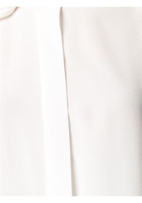 Camicia Tuxedo Scarf in jacquard di seta rosa e nero con mini pois BALENCIAGA | Camicie | 642258-TJLB41401