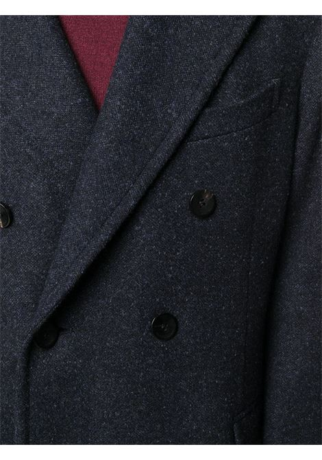 Blue virgin wool blend overcoat  featuring peak lapels BOGLIOLI |  | C3501P-BPC7000780