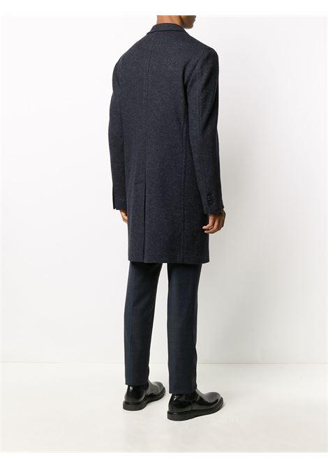 Soprabito blu in misto lana vergine con revers a lancia BOGLIOLI | Cappotti | C3501P-BPC7000780