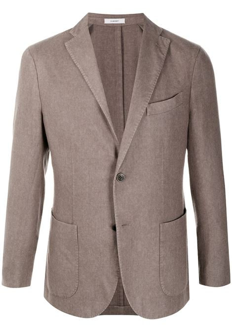 Tortora grey wool blend single-breasted blazer  featuring notched lapels BOGLIOLI |  | N1302J-BSC4150483