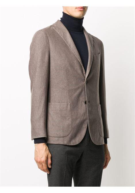 Giacca monopetto in misto lana grigio tortora BOGLIOLI | Giacche | N1302J-BSC4150483