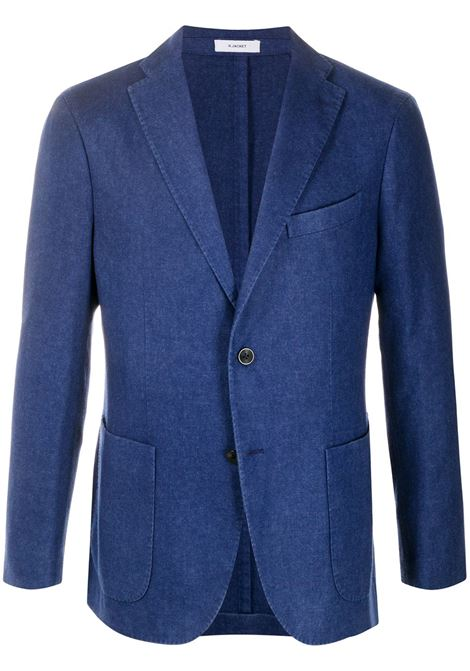 Giacca in lana blu con effetto stonewashed BOGLIOLI | Giacche | N1302J-BSC4150764