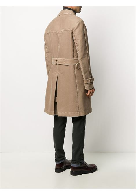 washed effect cotton beige double-breasted trench coat  BOGLIOLI |  | OCT114-BPC4150409