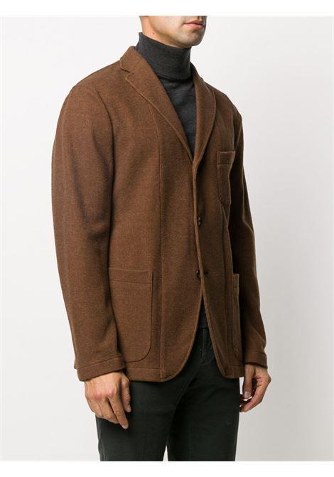 Giacca tabacco in lana a costine con tre bottoni BOGLIOLI | Giacche | OG0062M-BSC0180440