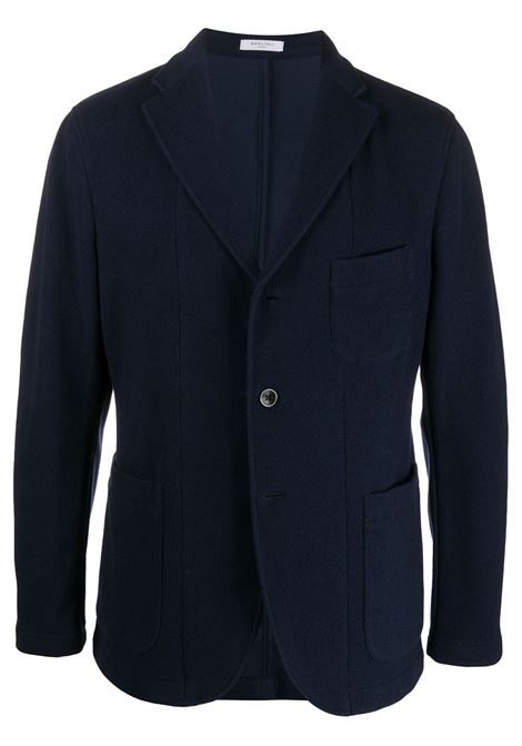 Navy blue cotton and virgin wool-blend lightweight twill blazer  BOGLIOLI |  | OG0062M-BSC0180790