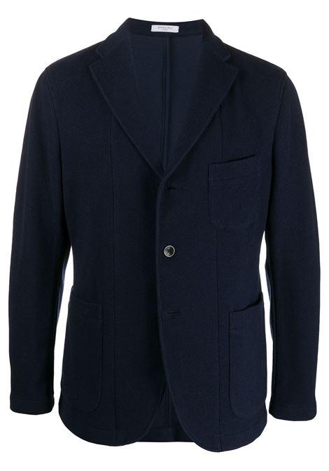 Blazer in twill leggero di misto lana vergine e cotone blu navy con revers a dente BOGLIOLI | Giacche | OG0062M-BSC0180790