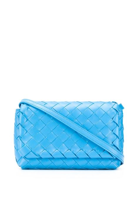 Sky blue leather mini crossbody bag featuring nappa Intrecciato design BOTTEGA VENETA |  | 609412-VCPP54611