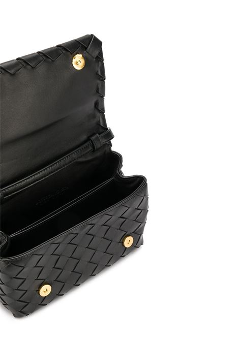 Black leather mini crossbody bag featuring nappa Intrecciato design BOTTEGA VENETA |  | 609412-VCPP58648