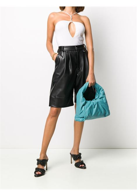 The Shoulder Clutch  in turquoise calf leather and tassel  BOTTEGA VENETA |  | 610524-VCP403612