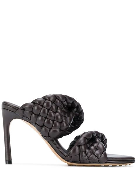 deep brown leather-blend BV Curve sandals  featuring Intrecciato strap detailing BOTTEGA VENETA |  | 618757-VBTG02113