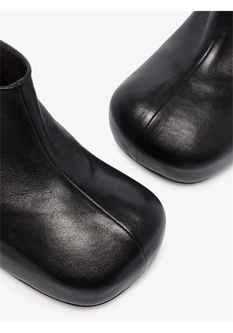 Bloc 105 black lamb-skin mules with wide square BOTTEGA VENETA |  | 630148-VBP401000