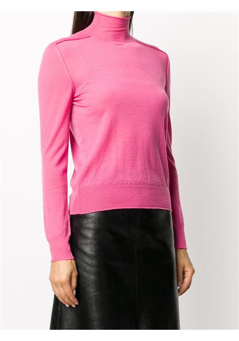 pull-over a collo alto in 100% cashmere rosa BOTTEGA VENETA | Maglieria | 631292-VKW305660