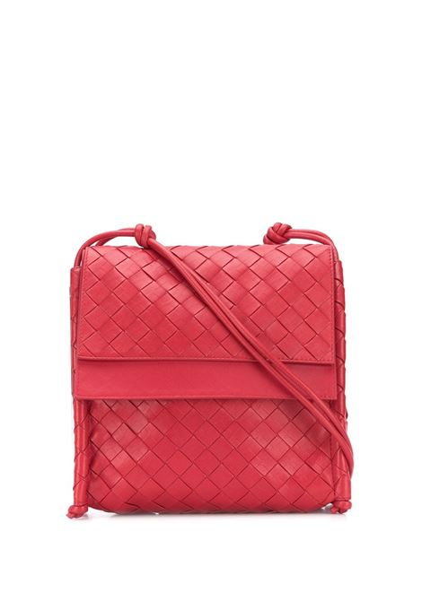 Red calf leather Bv Fold crossbody bag in Intrecciato Nappa design  BOTTEGA VENETA |  | 631463-VCPP16408