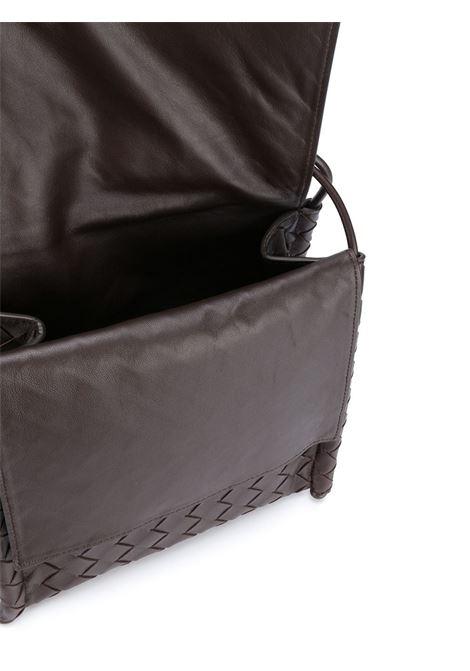 black lamskin Intrecciato motif shoulder bag BOTTEGA VENETA      631463-VCPP18803