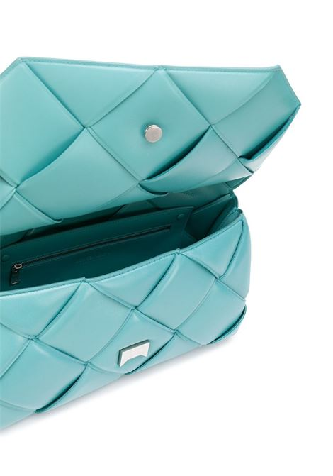 Blue leather woven leather BV Handle shoulder bag   BOTTEGA VENETA |  | 632647-VCQR13608