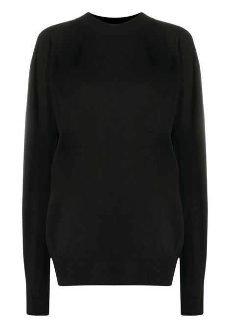 maglione in lana merino nera oversize BOTTEGA VENETA | Maglieria | 633132-VKWI01000