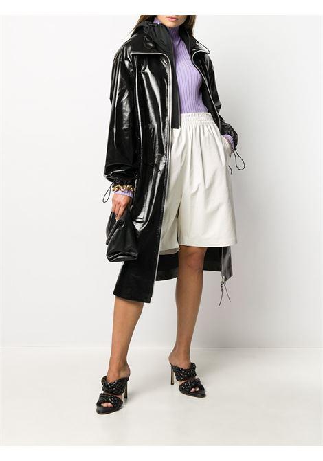 Black lambskin high-shine hooded coat  BOTTEGA VENETA |  | 633444-VKLC01000