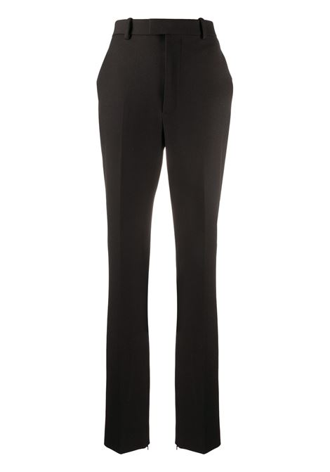 Black cotton and stretch wool sit cuffs tailored trousers featuring high waist BOTTEGA VENETA |  | 636529-V02W01000