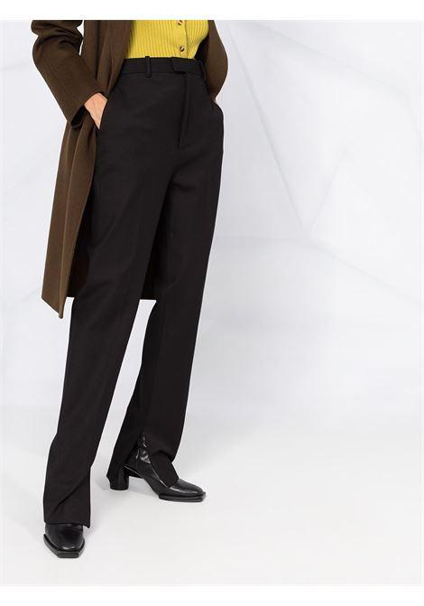 Pantaloni sartoriali con polsini neri in cotone e lana elasticizzata con vita alta BOTTEGA VENETA | Pantaloni | 636529-V02W01000