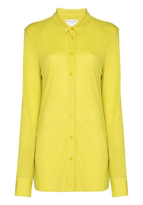 Yellow button-up long-sleeve shirt featuring spread collar BOTTEGA VENETA |  | 636591-V02I07275