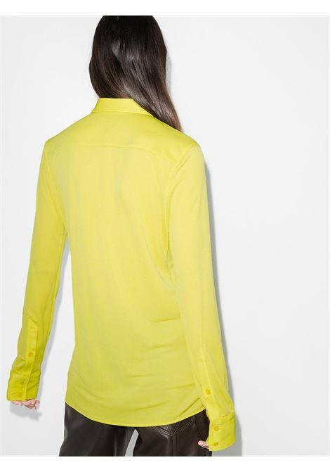 Camicia gialla a maniche lunghe con colletto alla francese BOTTEGA VENETA | Camicie | 636591-V02I07275