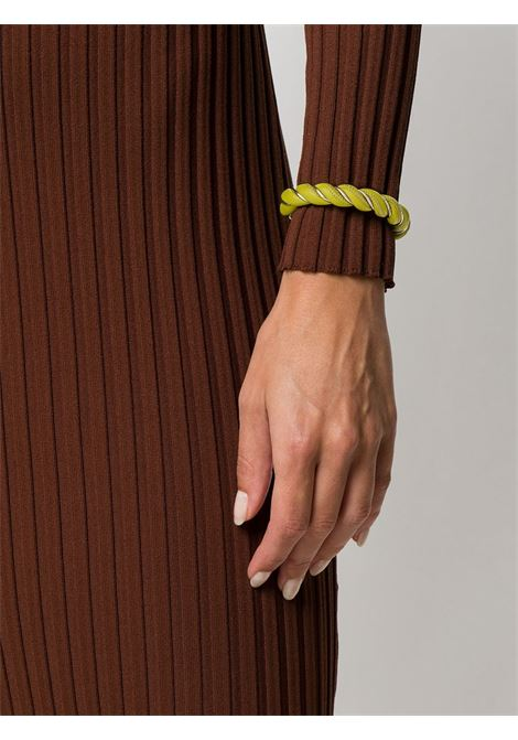 Green leather and silver-plated bracelet  BOTTEGA VENETA |  | 636836-V507C3500