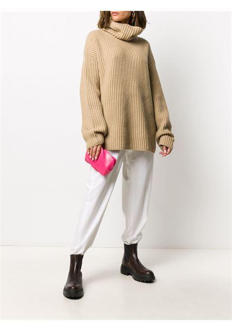 Pink calf  leather textured-effect BV Whirl clutch  BOTTEGA VENETA |  | 639332-VA9A06603