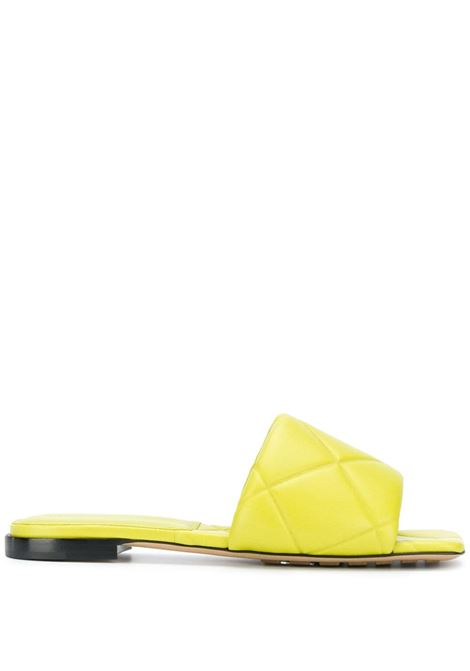 Yellow lamb leather Lido woven sandals featuring interwoven design BOTTEGA VENETA |  | 639940-VBP307275