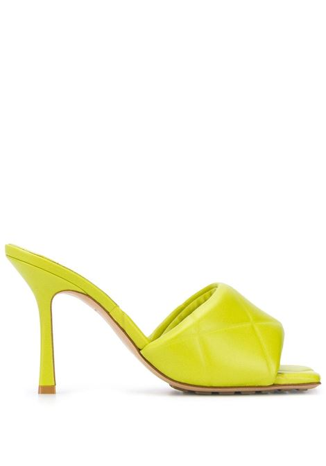 Lime green lamb leather BV Lido sandals featuring quilted effect BOTTEGA VENETA |  | 639943-VBP307275