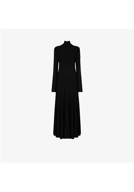 Black viscose high neck fluid dress featuring rear zip fastening BOTTEGA VENETA |  | 640079-VKI601000