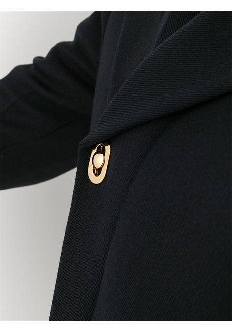 Black double-breasted asymmetrical coat in stretch wool twill BOTTEGA VENETA |  | 640690-V04O01000