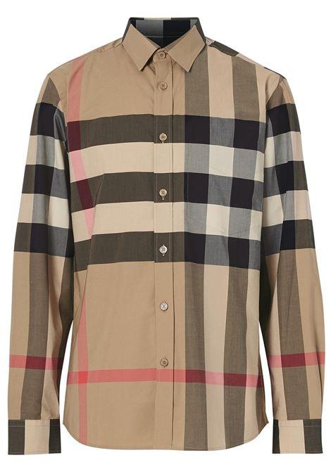 beige classic Burberry Check print shirt BURBERRY |  | 8010213-SOMERTONA7028