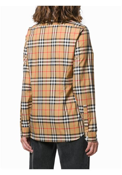 beige cotton Vintage Check print shirt featuring long sleeves BURBERRY |  | 8014010-CROWA2219