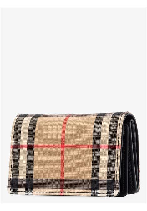 multicolour check pattern wallet featuring silver-tone Burberry logo plaque BURBERRY |  | 8016982-LS JESSIEA1189