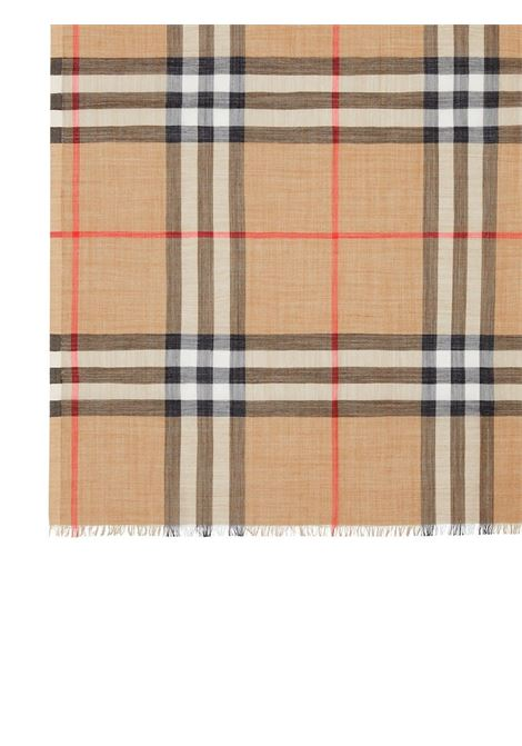 soft silk and wool 220x70 scarf with Haymarket pattern print BURBERRY |  | 8018468-MU GIANT CHECK GAUZEA7026