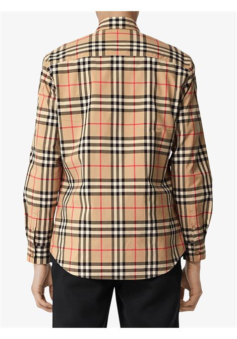 long-sleeved shirt in 100% eco-cotton poplin patterned with Burberry Vintage check print BURBERRY |  | 8020863-CAXTONA7028