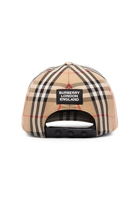 Beige cotton-blend Burberry Vintage Check print baseball cap  BURBERRY |  | 8026929-MH TRUCKERA7026