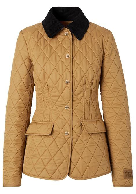 Brown corduroy collar diamond quilted barn jacket  BURBERRY |  | 8031702-LYDDA1420